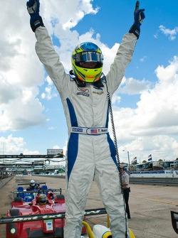 Tristan Nunez celebrates his victory