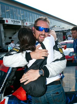 Michael Mills celebrates his victory