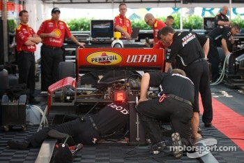 Penske team members at work