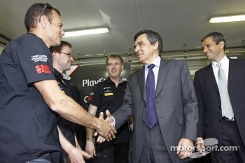 French Prime Minister François Fillon with Stéphane Sarrazin