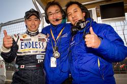GT 300 pole winner Naoki Yokomizo celebrates