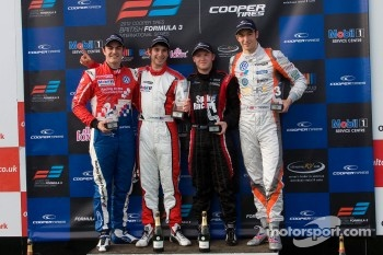 Podium: Jack Harvey, Felix Serralles, Spike Goddard and Harry Ticknell