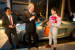 Cyndie Allemann celebrates her birthday with Audi Korea Managing Director Trevor HIll