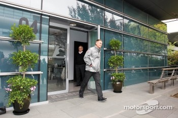 Martin Whitmarsh, McLaren Mercedes Chief Executive Officer leaves a meeting of the teams concerning the upcoming Bahrain GP