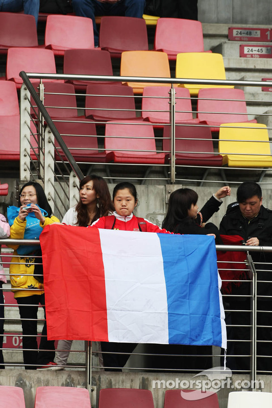 Fans with a french flag