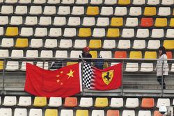 Ferrari fan and flags