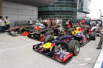 Red Bull Racing of Mark Webber, Red Bull Racing in parc ferme