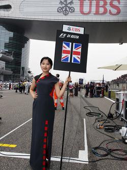 Grid girl for Paul di Resta, Sahara Force India F1