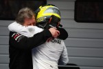 Race winner Nico Rosberg, Mercedes AMG F1 celebrates with Norbert Haug, Mercedes Sporting Director