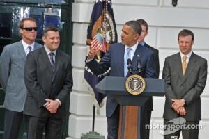President Obama toasts Tony Stewart