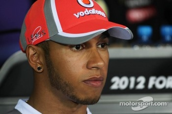 Lewis Hamilton, McLaren in the FIA Press Conference