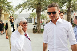 Bernie Ecclestone, CEO Formula One Group, with David Coulthard, Red Bull Racing and Scuderia Toro Advisor / BBC Television Commentator