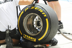 Worn Pirelli tyre for Mercedes AMG F1
