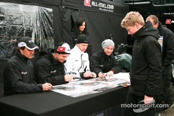 Markus Winkelhock, Marc Basseng,Thomas Jger, Nicky Pastorelli