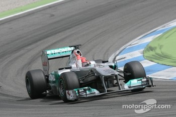 Michael Schumacher, Mercedes Grand Prix drives Demo Laps