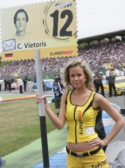 Grid girl of Christian Vietoris, Team HWA AMG Mercedes, AMG Mercedes C-Coupe
