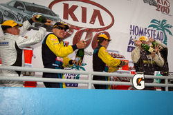 GS podium: champagne celebrations