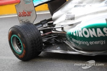 Nico Rosberg, Mercedes AMG Petronas rear suspension