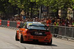 WTCC exhibition, Kossuth Square, Gabor Weber, BMW 320 TC, Zengo Motorsport