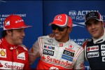 Fernando Alonso, Scuderia Ferrari, Lewis Hamilton, McLaren Mercedes and Pastor Maldonado, Williams F1 Team