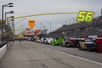 Cars wait to take to the track