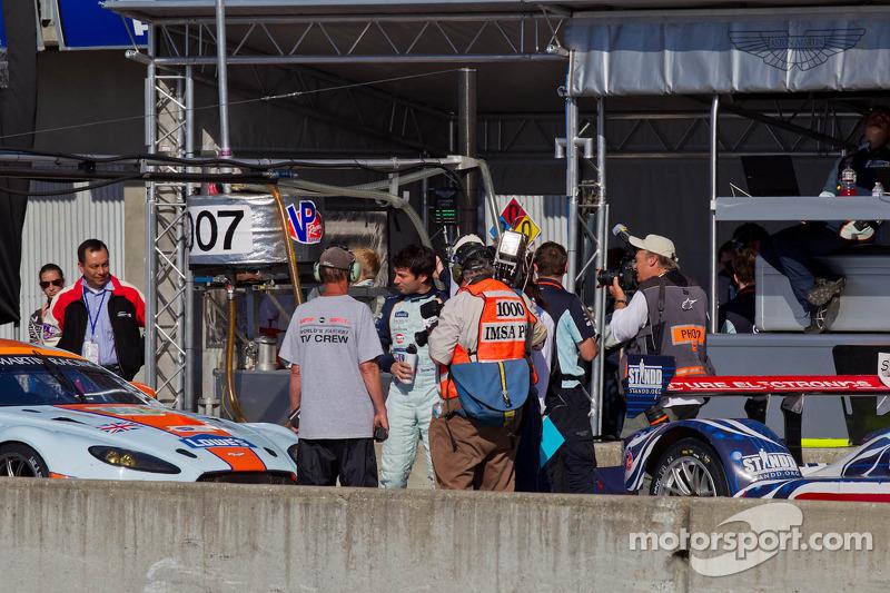 #007 Aston Martin's Darren Turner takes pole