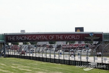 Walkway over the road course in the infield