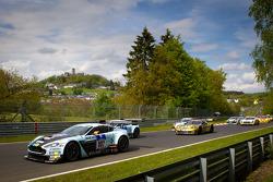 Formation lap: #007 Young Driver AMR Aston Martin Vantage GT3: Johannes Stuck, Ferdinand Stuck, Darren Turner, Dennis Rostek