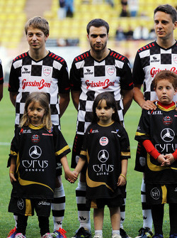 Jerome d'Ambrosio, Lotus F1 Team Third Driver at the charity football match