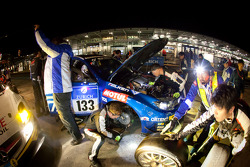 Pit stop for #133 Subaru Tecnica International Subaru GVB: Toshihiro Yoshida, Kota Sasaki, Marcel Engels, Carlo van Dam
