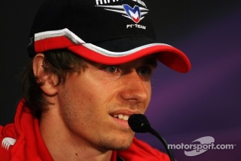 Charles Pic, Marussia F1 Team in the FIA Press Conference