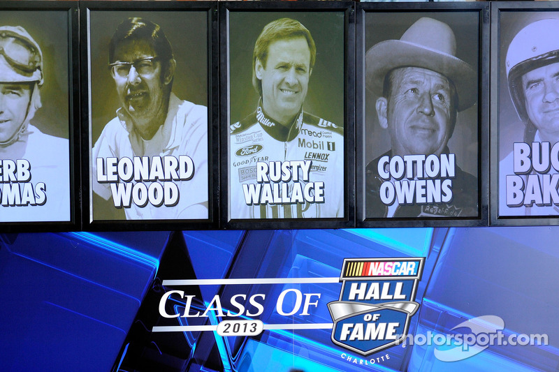 The 2013 class of Hall of Famers: Herb Thomas, Leonard Wood, Rusty Wallace, Cotton Owens and Buck Baker