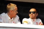 Martin Whitmarsh, McLaren Chief Executive Officer with Lewis Hamilton, McLaren