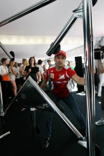 Marc Gene, Ferrari Test Driver at the Fanzone