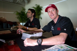Dario Franchitti, Target Chip Ganassi Racing Honda and Scott Dixon, Target Chip Ganassi Racing Honda