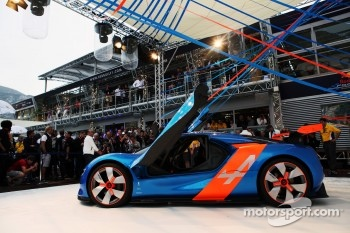 The unveiing of the Renault Alpine A110-50 Concept car on the Red Bull Energy Station