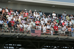 Fans in the upper suites