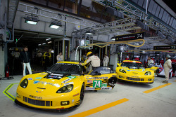 Corvette Racing pit area
