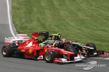 Felipe Massa, Scuderia Ferrari and Romain Grosjean, Lotus F1 Team