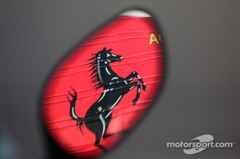 reflection of the Ferrari horse
