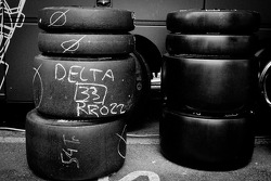 Michelin tires for the #0 Highcroft Racing Delta Wing Nissan