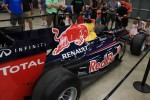 Fans of all ages clamored to get close to Sebastian Vettel's 2010 world championship RB6