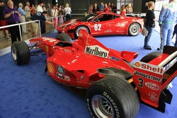 Ferrari F1-2000 and Ferrari 458 Italia GRAND-AM on display at the 2012 Formula Expo