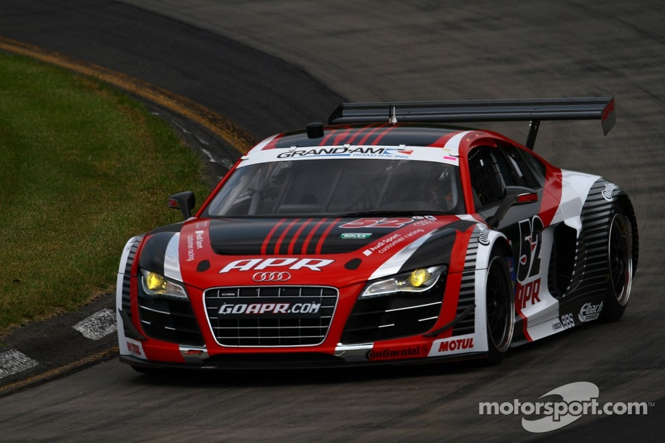 #52 APR Motorsport Audi R8 Grand-Am Audi Sport Customer Racing: Marc Basseng, Frank Stippler 