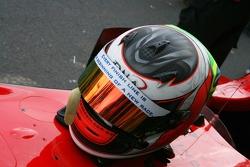 Pipo Derani's helmet message