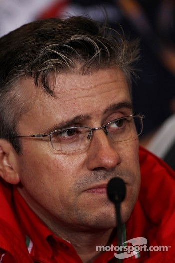 Pat Fry, Ferrari Deputy Technical Director and Head of Race Engineering in the FIA Press Conference
