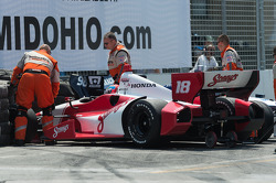 Alex Tagliani, Bryan Herta Autosport Honda, Justin Wilson, Dale Coyne Racing Honda