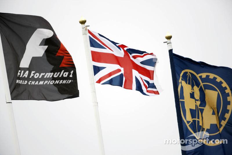 F1, Union, and FIA Flags