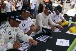 #55 BMW Team RLL BMW E92 M3: Bill Auberlen, Jorg Müller #56  BMW Team RLL BMW E92 M3: Dirk Müller, Joey Hand