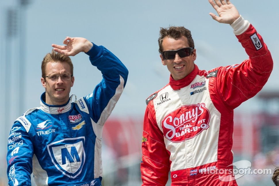 Sbastien Bourdais and Justin Wilson